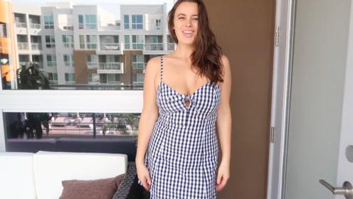 外表光鲜的御姐女神,穿上连衣裙,自然很有吸引力!