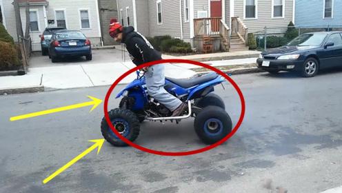 男子骑着摩托玩原地漂移,突然砰的一下,男子瞬间悲剧!