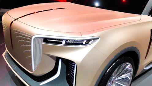红旗家族全新纯电SUV亮相,比奥迪Q7还魁梧,不到4秒就能破百?