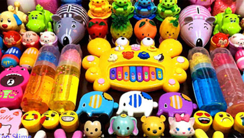 水瓶水晶泥,螃蟹琴饰品,老鼠玩具泥,创意史莱姆教程