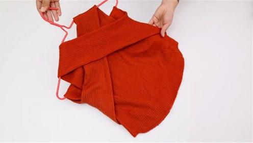 穿了30年毛衣才知道,挂了毛衣方法都是错的,原来这样挂才对!