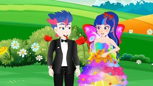 穷男孩见到花仙子,送鲜花给她,花仙子把他变成了大富豪!