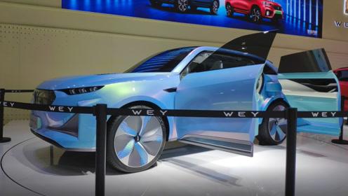 广州车展实拍2020款-WEY X,科技感十足