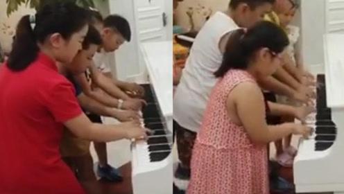 别人家的娃!十名小学生完美衔接演奏多首钢琴名曲,惊艳百万网友