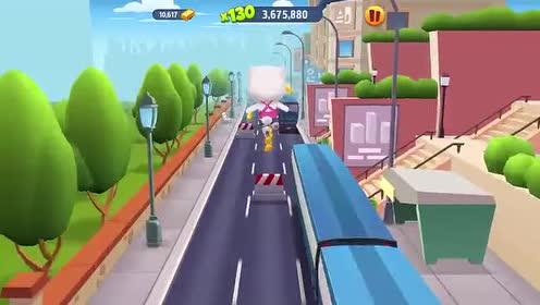 好玩的游戏:安吉拉猫咪爬上火车做什么呢?!