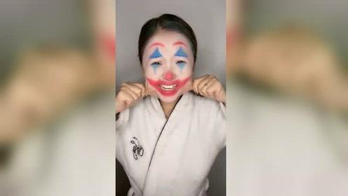 低级老婆的小丑仿妆,这级别,该得再去找薛之谦学个几十年