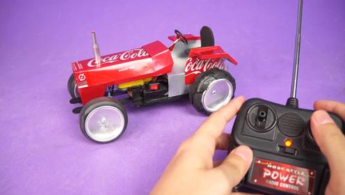 小伙手艺没得说,自制一辆电动遥控玩具车,试玩了一下太棒了
