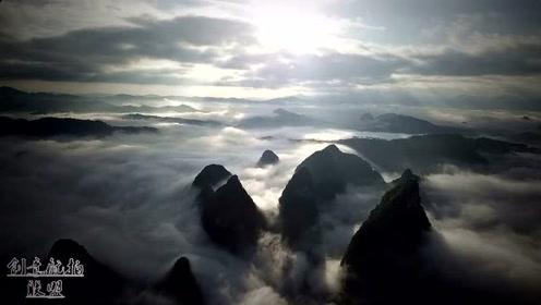 广西的景色很有多美?看看航拍无人机拍下的画面,是不是惊艳到了