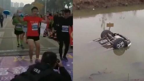 现场速递 | 马拉松选手争夺最后一名;围观车祸死者竟是儿子