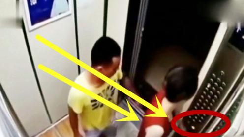 短发美女乘电梯也遇猥琐男,接下里的一幕令人望而却步!