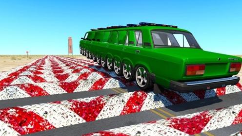 汽车连过500个减速带是什么场面?老外用3D动画模拟,一起见识下