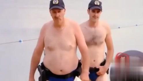 沙滩上休息也被开罚单,路人一脸懵,这操作笑的肚子痛,真搞笑