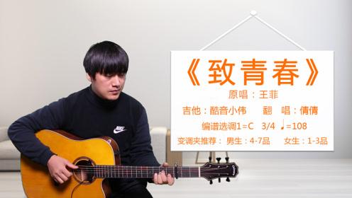 《致青春》王菲酷音小伟吉他弹唱教学自学教程