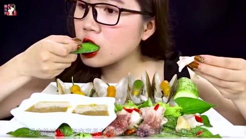 一种长相奇特的贝类海鲜,吃起来口感脆弹爽口,网友:看起来好美味