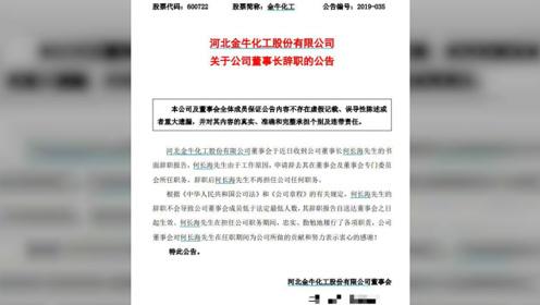 金牛化工连发8条公告:董事长、董事、监事共4人辞职