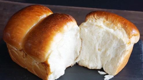 面包学会这种做法,家里有烤箱都用不上,松软又拉丝,比买的好吃