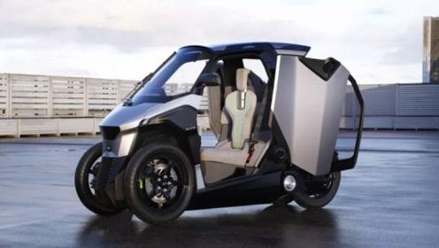 法系标致代步车,配剪刀式车门,时速达130公里,实用性很强的小型车!