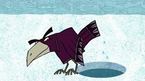 乌鸦用计骗走人类的鱼,谁知道人类更聪明,结果中了计