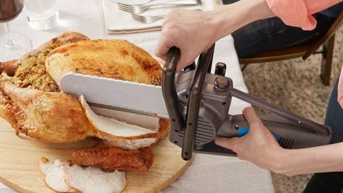 这款火爆国外的电锯刀,比普通刀更好用,切下去的瞬间太爽快!