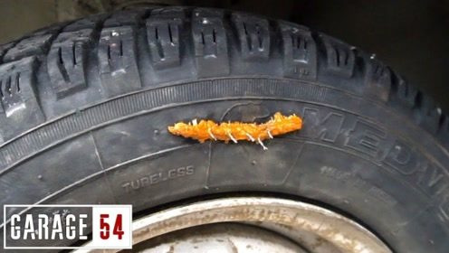 一根辣条就能快速修复轮胎 ?这操作我佩服!