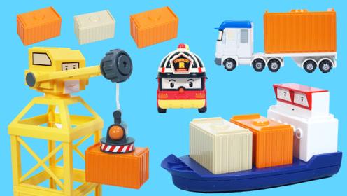 变形警车珀利的货运码头玩具