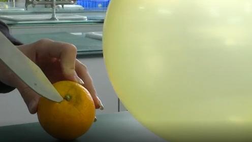 """剥橙子柚子玩气球会被炸?专家:""""相似相溶""""原理是真的"""