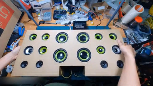 在家用纸板制作扬声器过程,动手能力强悍,脑洞大开!