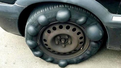 有趣的实验,给汽车装上拥有20个鼓包的轮胎,行驶起来会怎样?