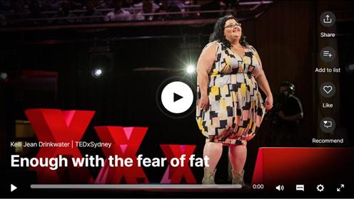 双语字幕TED演讲:我胖,我骄傲!