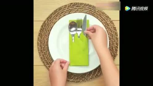 日常小技巧之餐巾的各种特色折叠方法!简单实用节省空间!
