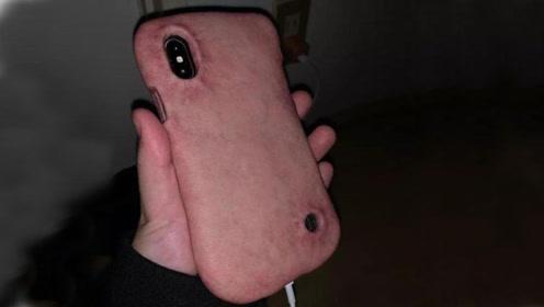 太奇葩了,用人造皮肤做的手机壳,你会被吓到吗