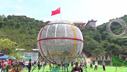 东莞观音山《环球飞车》表演,惊险刺激