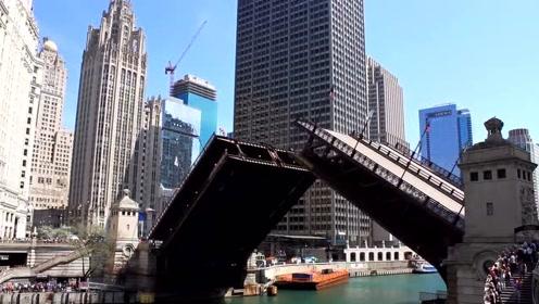 好神奇的一座大桥,可随时变身过轮船,太不可思议了