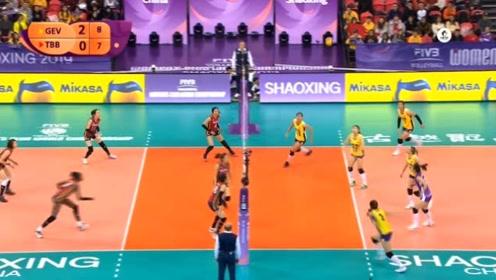 女排世俱杯七八名决赛 天津渤海银行VS广东恒大 第三局回放