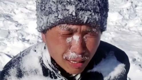 太难了!暴雪中男子拉车去尼泊尔,为打赏自虐前行