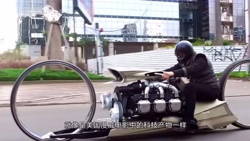 老外给摩托车装上飞机发动机,启动后效果却不理想,咋不能飞呢?