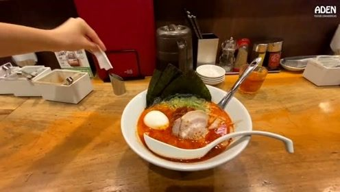 这碗日本面条1050日元一碗,折合人民币68元,味道真心不错