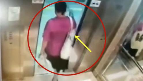 这样的电梯谁座谁害怕,大妈经历这一切!要不是视频谁会相信