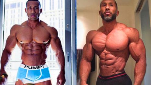 43岁健体运动员!肌肉拉丝身材帅爆,却因疯狂健美长成60岁模样!