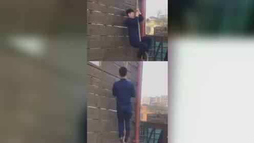 弹簧王子!消防员训练爬绳 动作分解练习笑喷网友