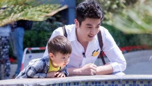 杜江和儿子嗯哼,拍视频为霍思燕庆生,网友表示羡慕这一家三口