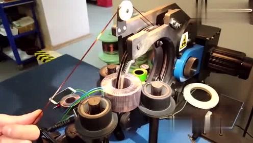 原来定子线圈绕线机是这样作业的,解开了我多年的疑惑!