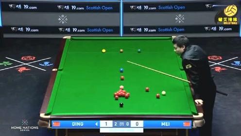 回放:苏格兰公开赛第二轮丁俊晖VS梅希文,第三局丁俊晖单杆100分再胜