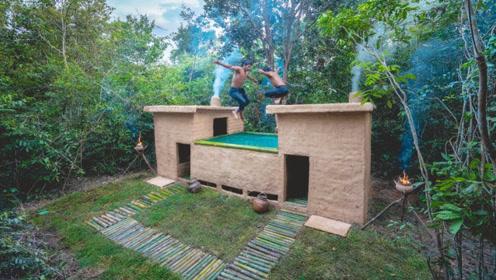没有现代的建筑材料,仅凭传统技艺,能不能建成室外泳池呢?