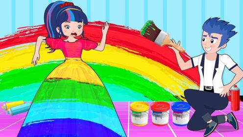 女孩和闺蜜玩捉迷藏,让粉刷工把自己,和墙壁粉刷在一起!