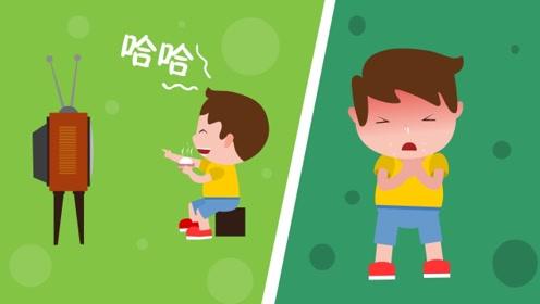 同学们,边吃饭边看电视是个坏习惯,你们知道这样会有什么坏处吗?