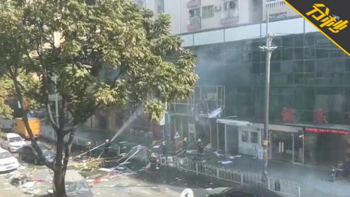 突发!广州白云区一宵夜档疑似发生煤气爆炸事件,现场浓烟滚滚