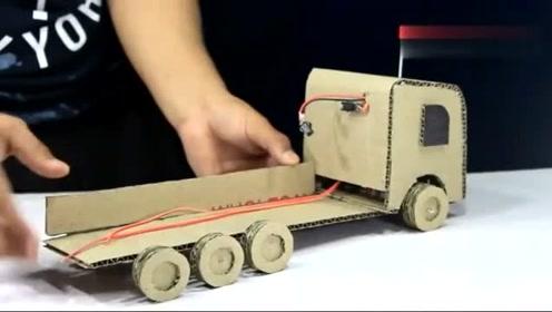 小伙用纸板DIY卡车,恕我直言,这功能也太强大了,佩服!
