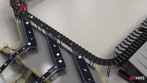 新型交叉皮带式分拣机,高效处理电商大批量订单和复杂包装品种