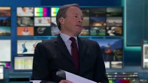 英国电视主持人大选之夜连续8小时直播 当场累到瘫坐长叹气
